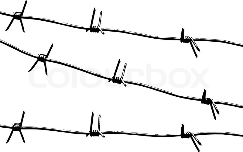 barbed wire  black and white pattern vector