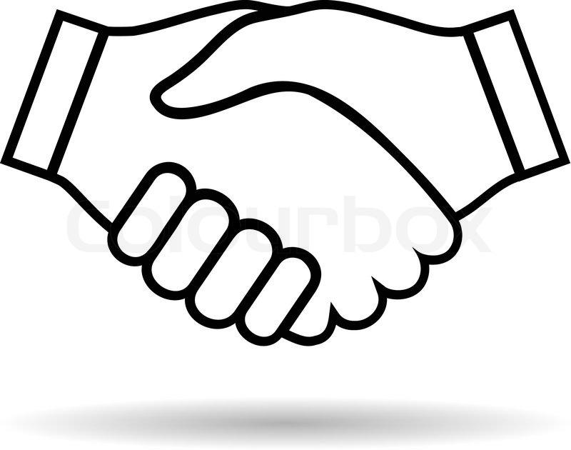 Illustration Icon Handshake Isolated ...