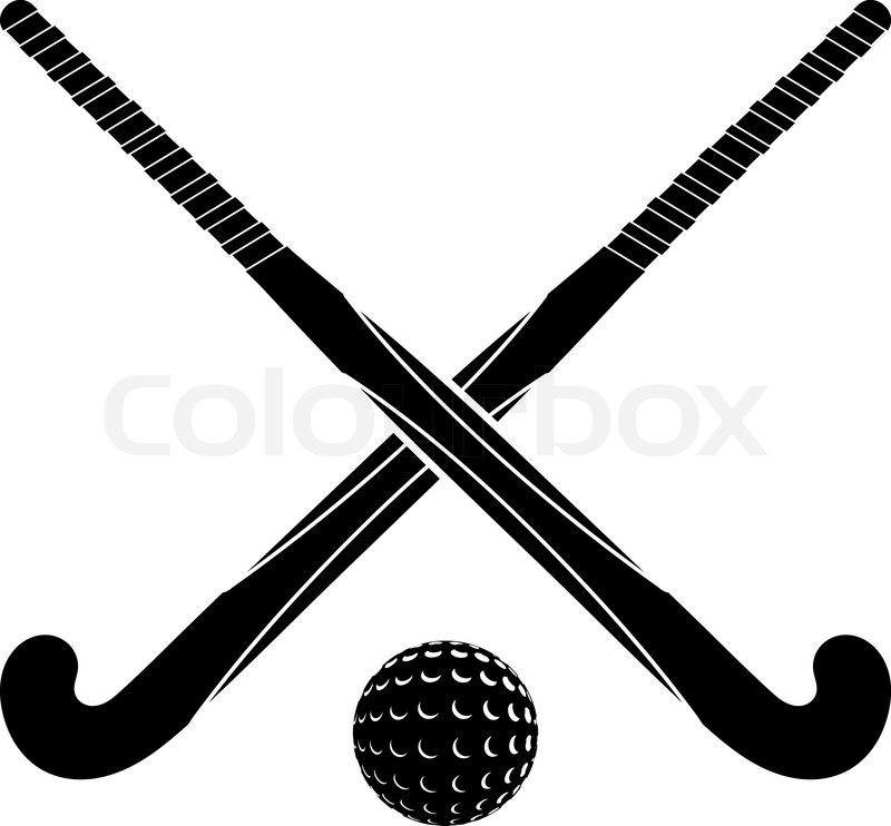 two black silhouettes sticks for field hockey and ball on clip art hockey puck on ice clipart hockey referee