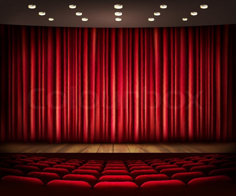 Movie screen curtain