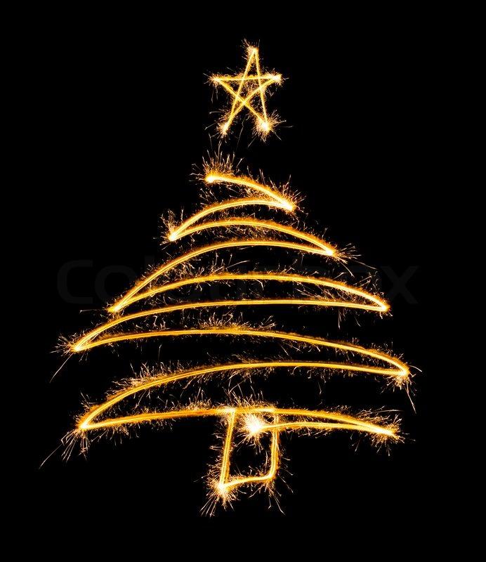 Star saisonal konzertieren stock foto colourbox - Arbol de navidad hecho de luces ...