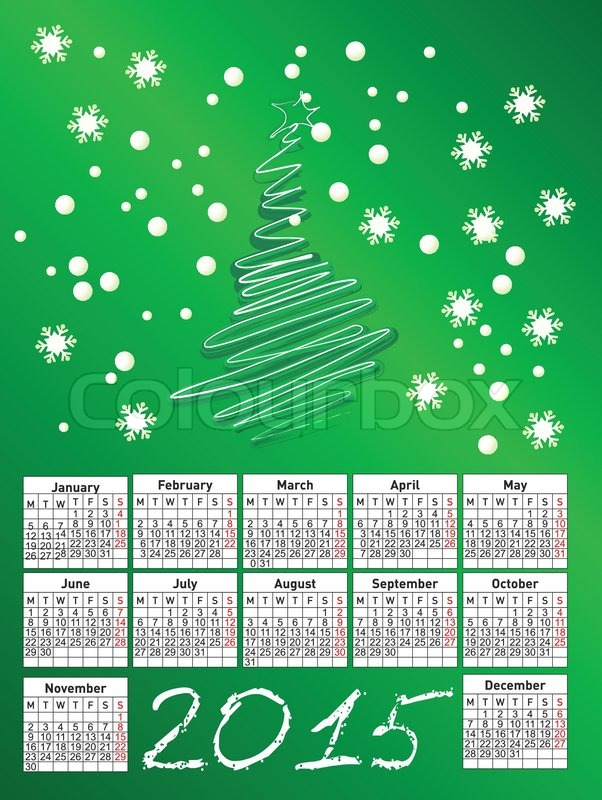 Calendar Illustration Jobs : New calendar vector illustration stock