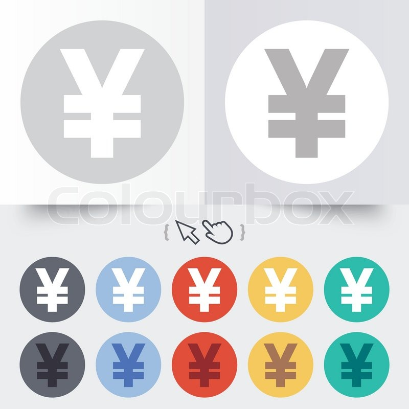 Yen Sign Icon Jpy Currency Symbol Money Label Round 12 Circle