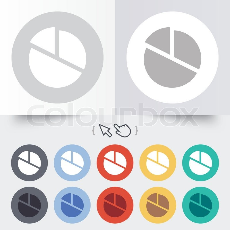 Pie Chart Graph Sign Icon Diagram Button Round 12 Circle Buttons