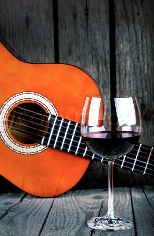 Image result for guitar and wine