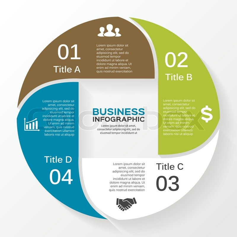 Vector circle infographic template for diagram graph presentation vector circle infographic template for diagram graph presentation and chart business concept with 4 options parts steps or processes cheaphphosting Images