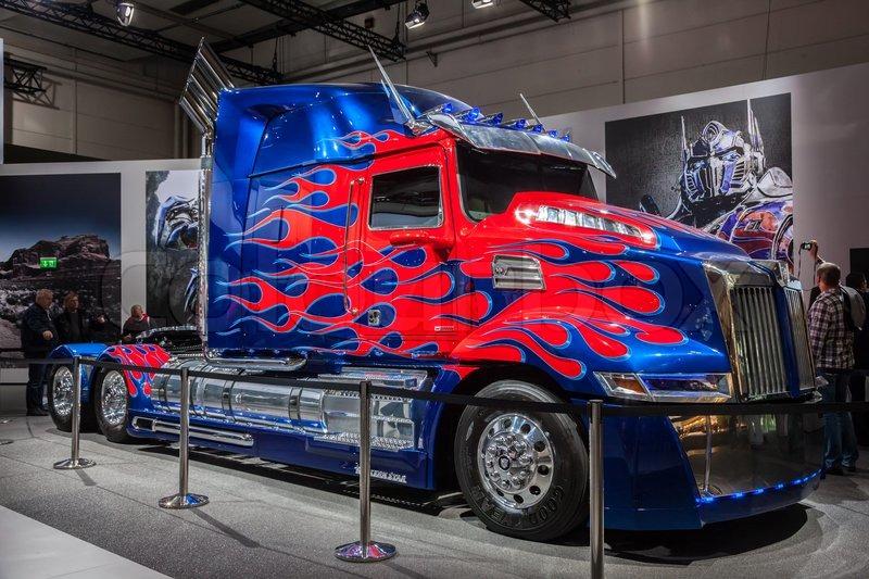 Optimus Prime Transformers Truck At The 65th IAA