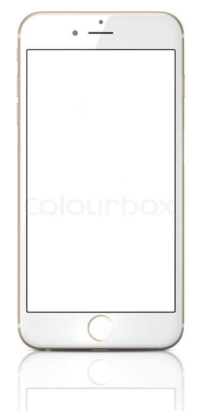 iphone blank screen new gold smartphone with blank screen on white background 11653