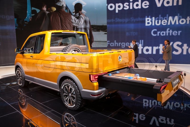 New VW T5 TriStar syncro at the 65th IAA Commercial Vehicles fair 2014 in Hannover, Germany ...