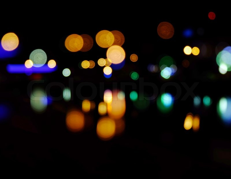 City night lights background