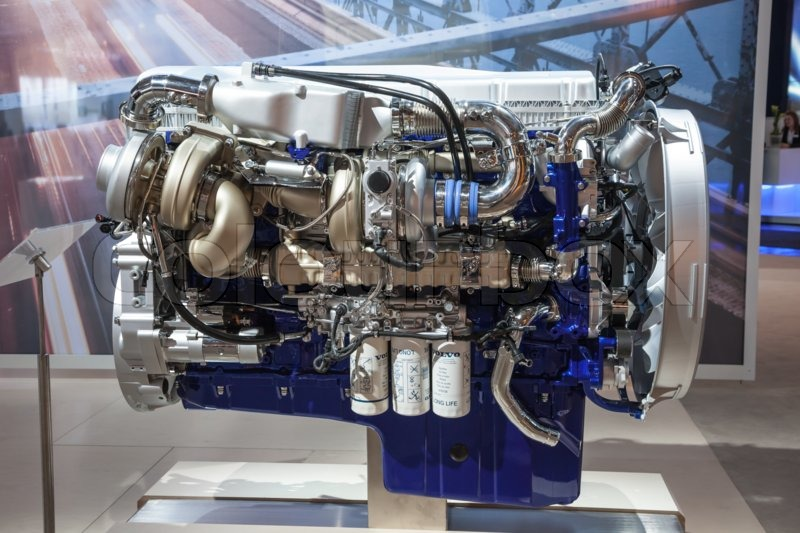 New VOLVO diesel engine D16 Euro 6 at ... | Stock Photo | Colourbox