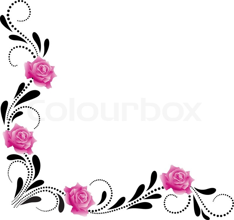 corner decorative floral ornament with stock vector colourbox corner decorative floral ornament with