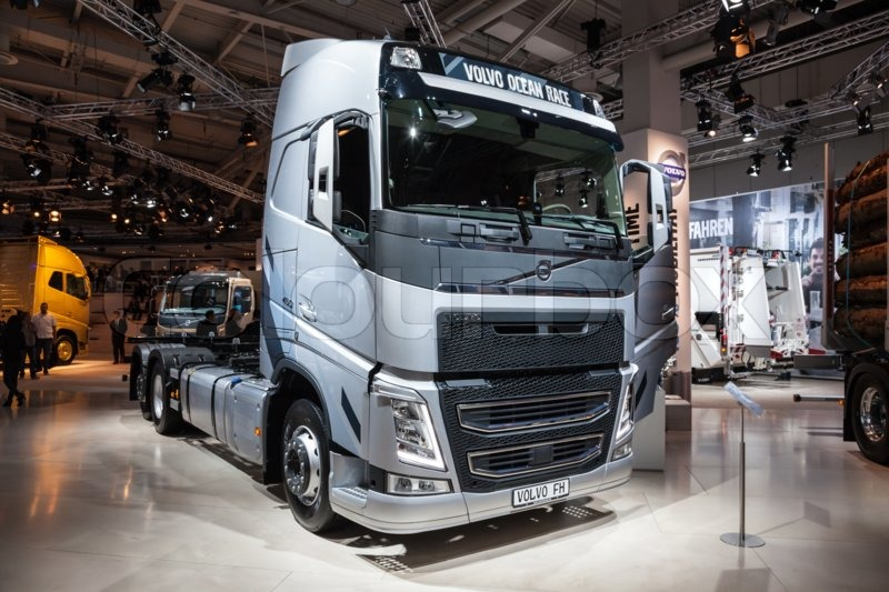 volvo fh truck at the 65th iaa commercial vehicles fair 2014 in hannover germany stock photo. Black Bedroom Furniture Sets. Home Design Ideas
