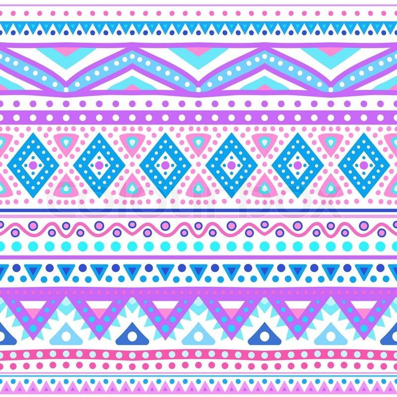 tribal ethnic seamless stripe pattern vector illustration