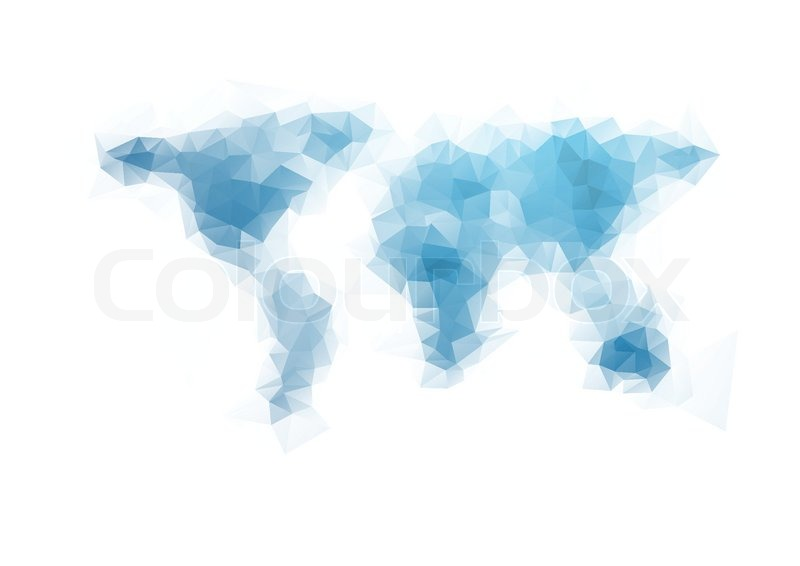 Tech geometry world map background vector design stock vector stock vector of tech geometry world map background vector design gumiabroncs Choice Image