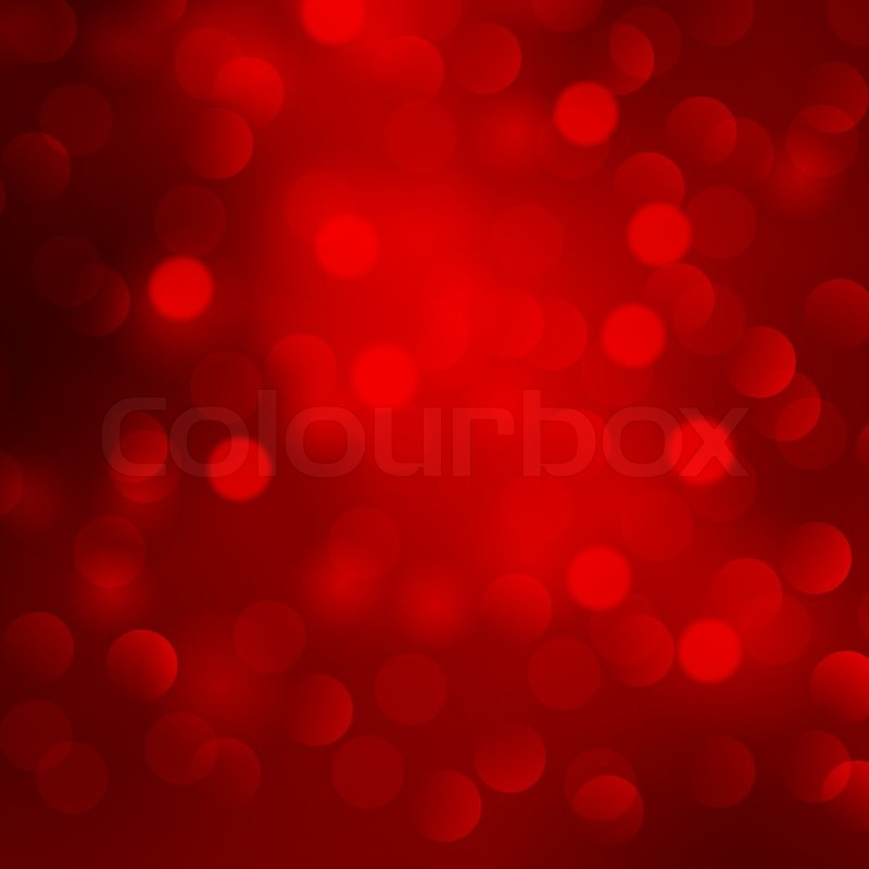 Vector illustration Abstract Christmas red light ...