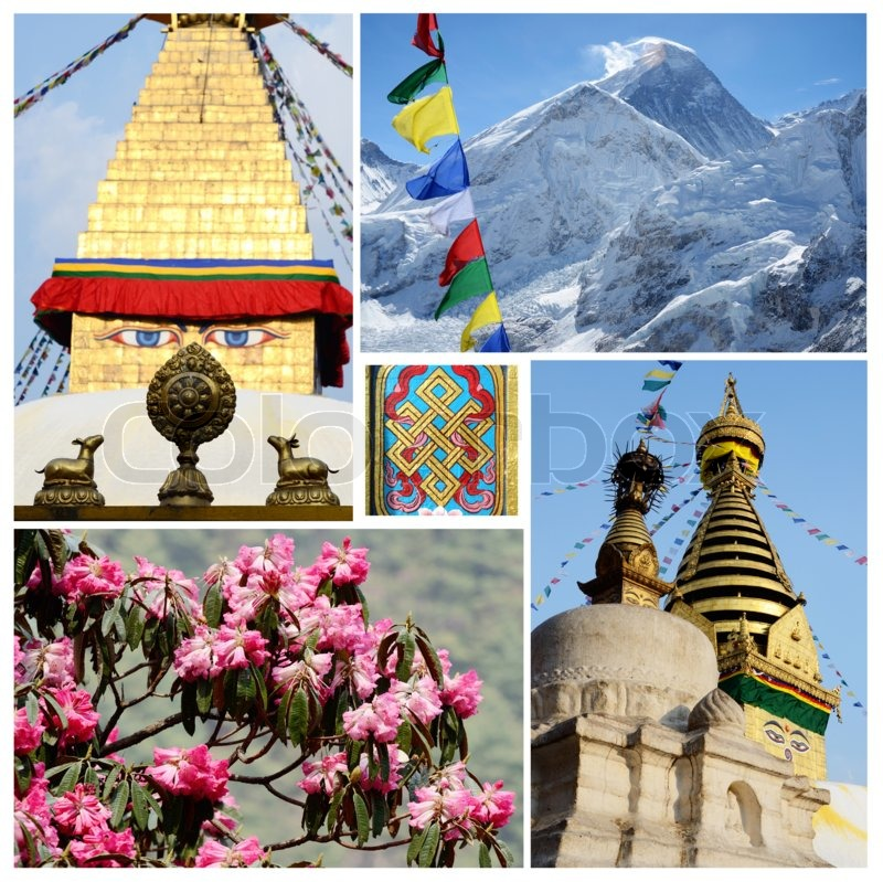 Collage Of Popular Nepalese Travel Destinations