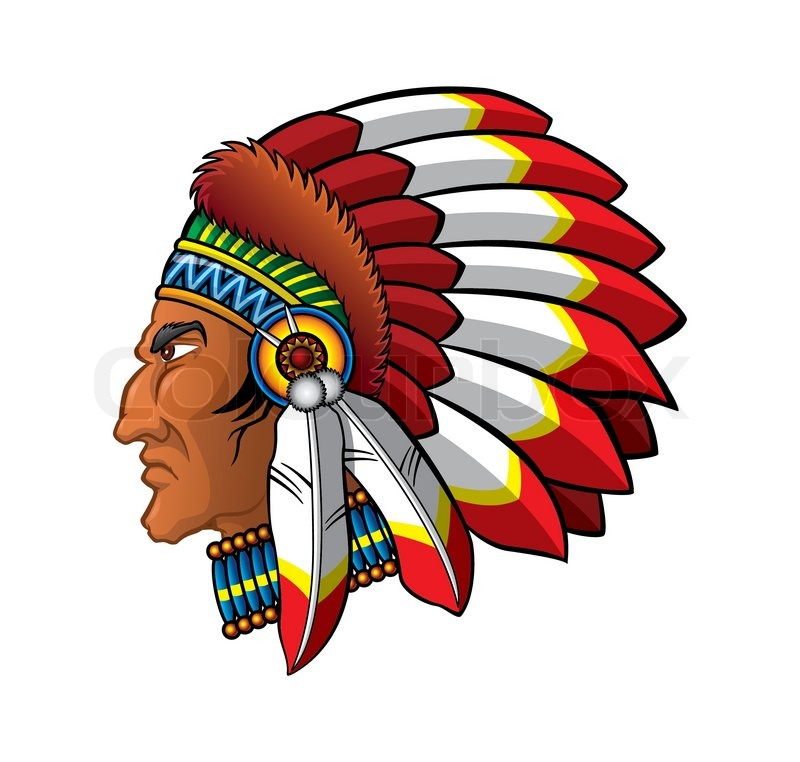 apache head image illustration stock vector colourbox indian chief clipart black and white indian chief mascot clipart