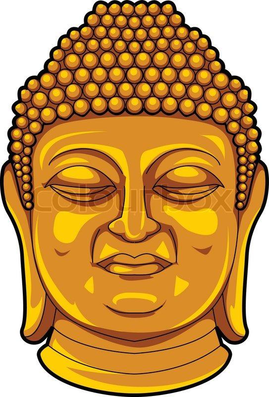Buddha Face Line Drawing : Buddha stock vector colourbox