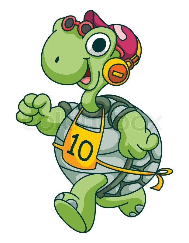 sport running turtle funny cartoon stock vector colourbox