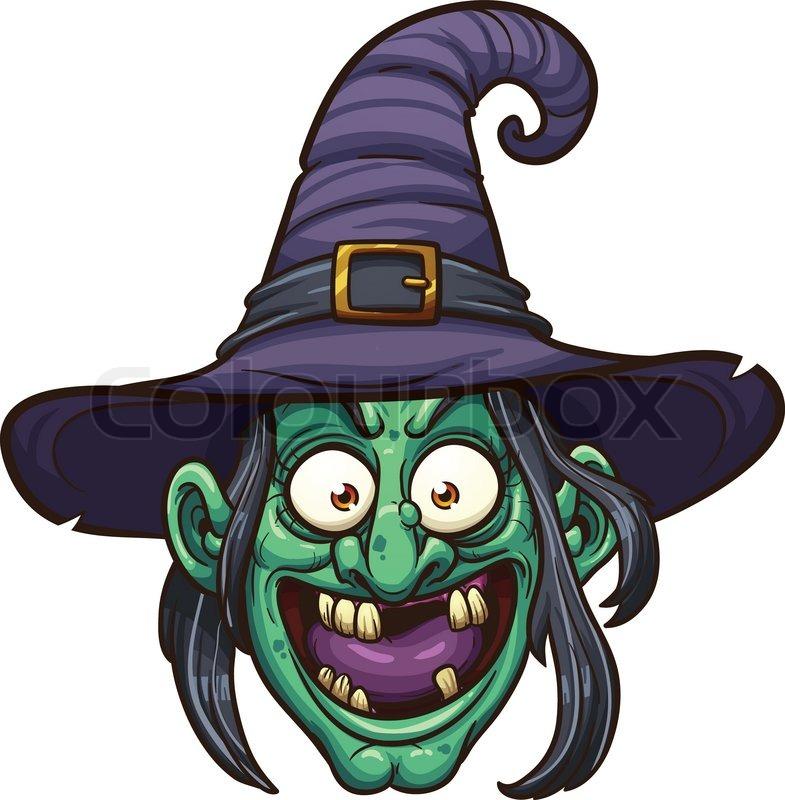Cartoon Witch Face Vector Clip Art Stock Vector Colourbox
