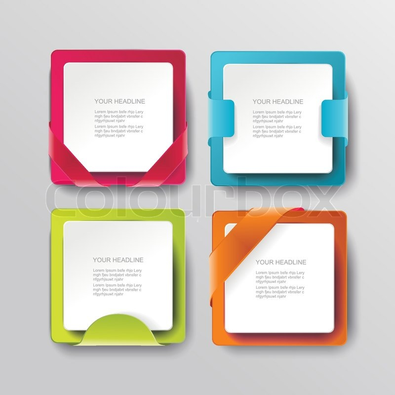Vector modern banners or frames element design. Plastic web plates ...