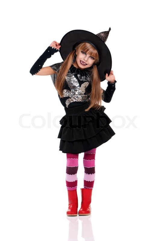 Little girl in halloween costume | Stock Photo | Colourbox