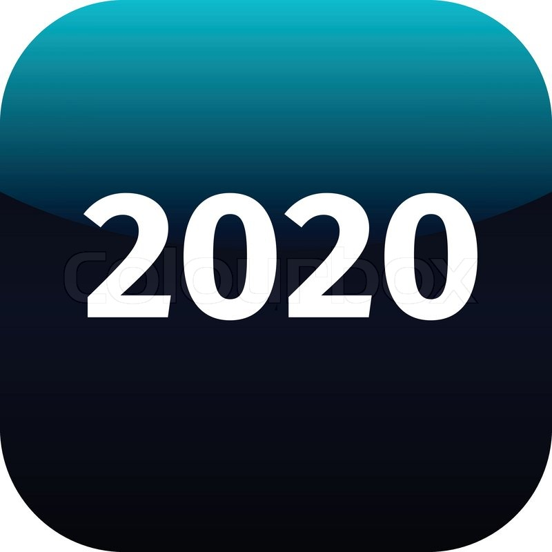 phone number year 2020 blue and white icon for phone app web 2020