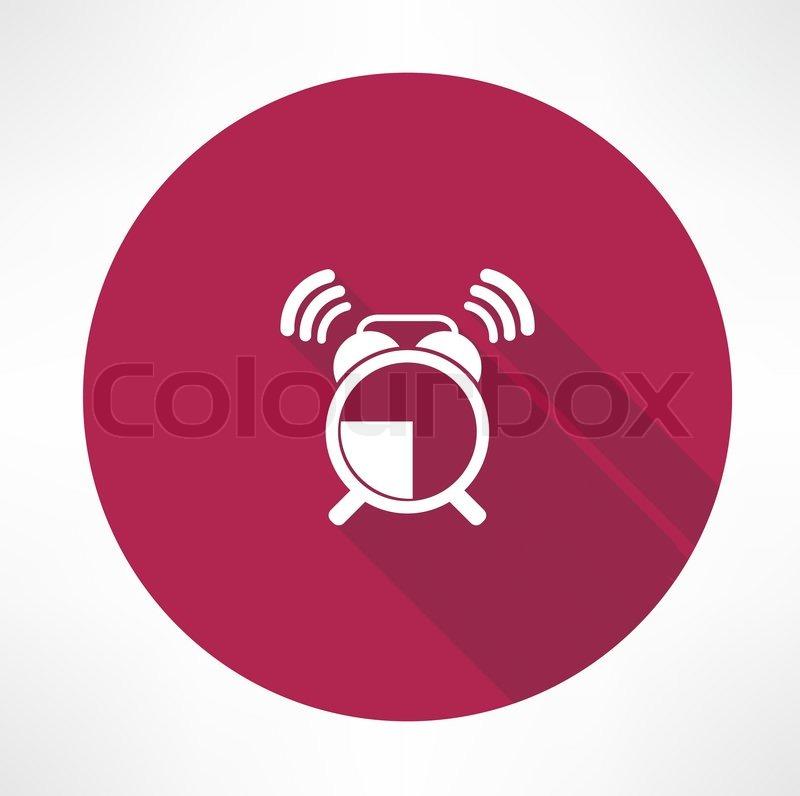 Ringing alarm clock icon | Stock Vector | Colourbox