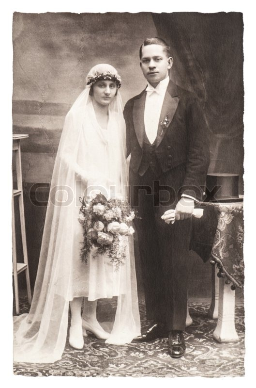 Berlin Germany Circa 1930 Antique Wedding Photo