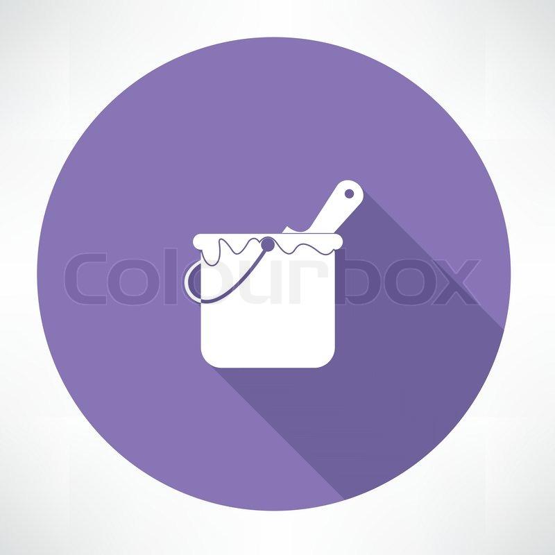 Paint Bucket Vector Paint Bucket Icon Vector