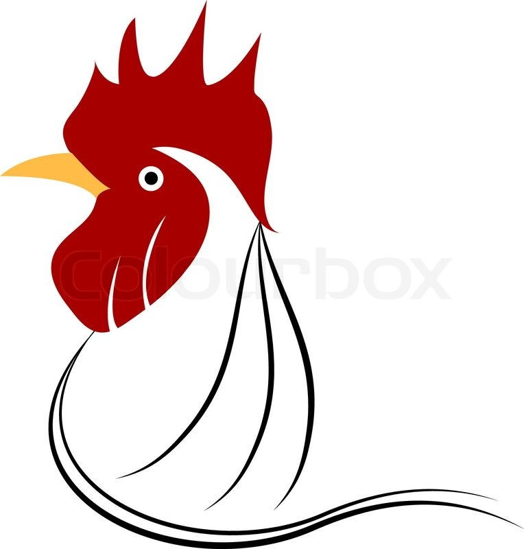 chicken head grunge icon vector illustration stock vector colourbox rh colourbox com chicken vector image chicken vector images
