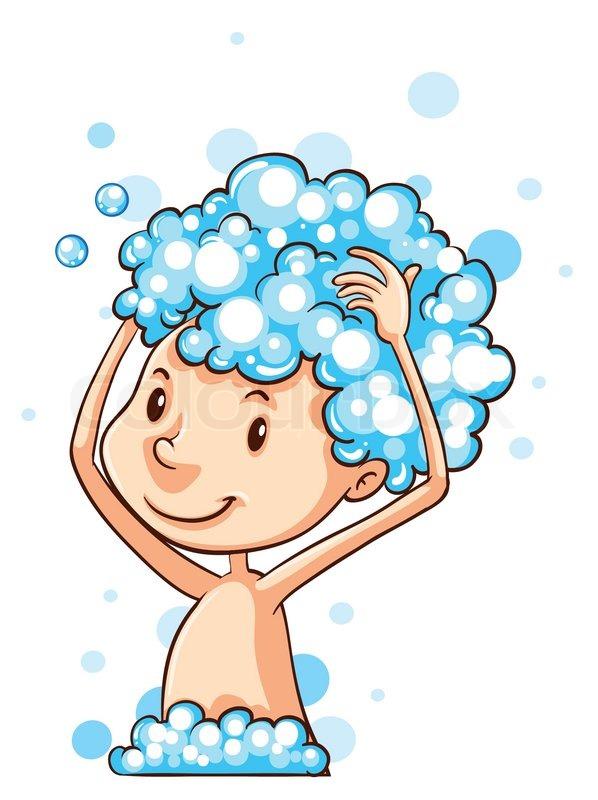 Dusche, waschen, einseifen | Stock-Vektor | Colourbox
