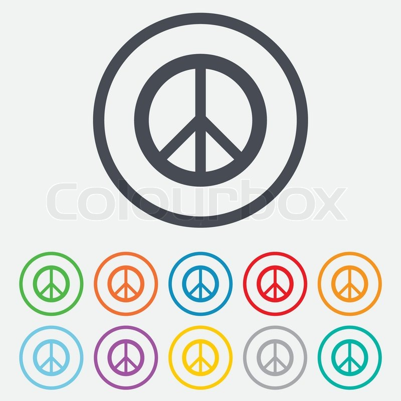 Peace sign icon  Hope symbol  Antiwar     | Stock vector | Colourbox