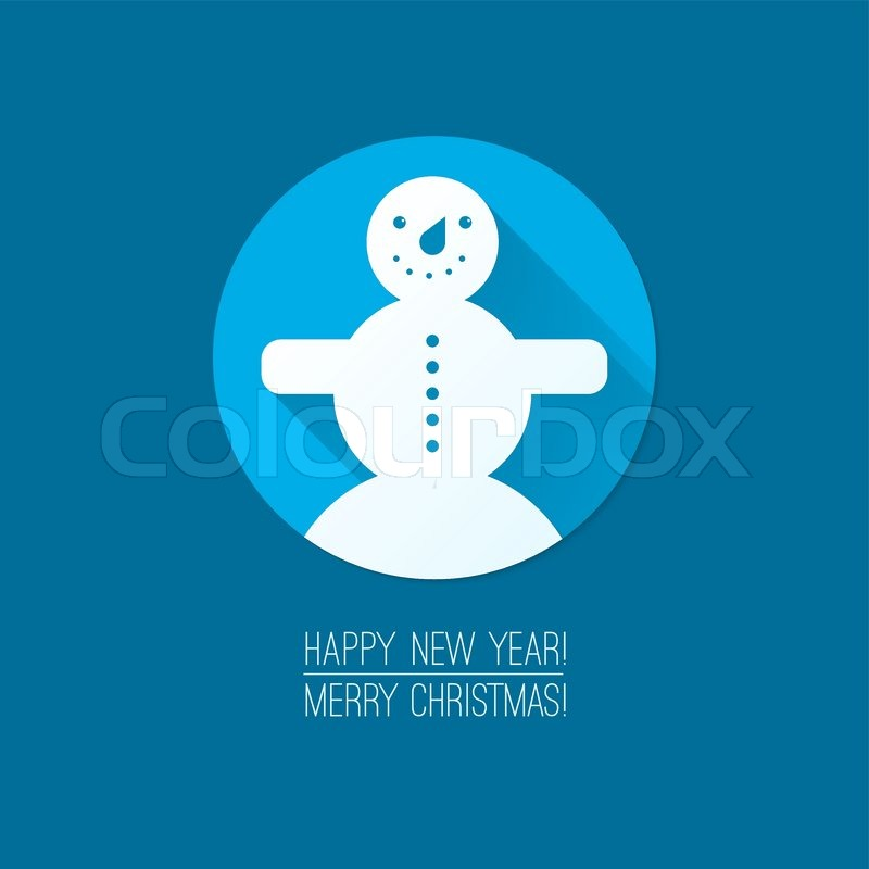 Flat design concepts for merry christmas and happy new for New flat design ideas