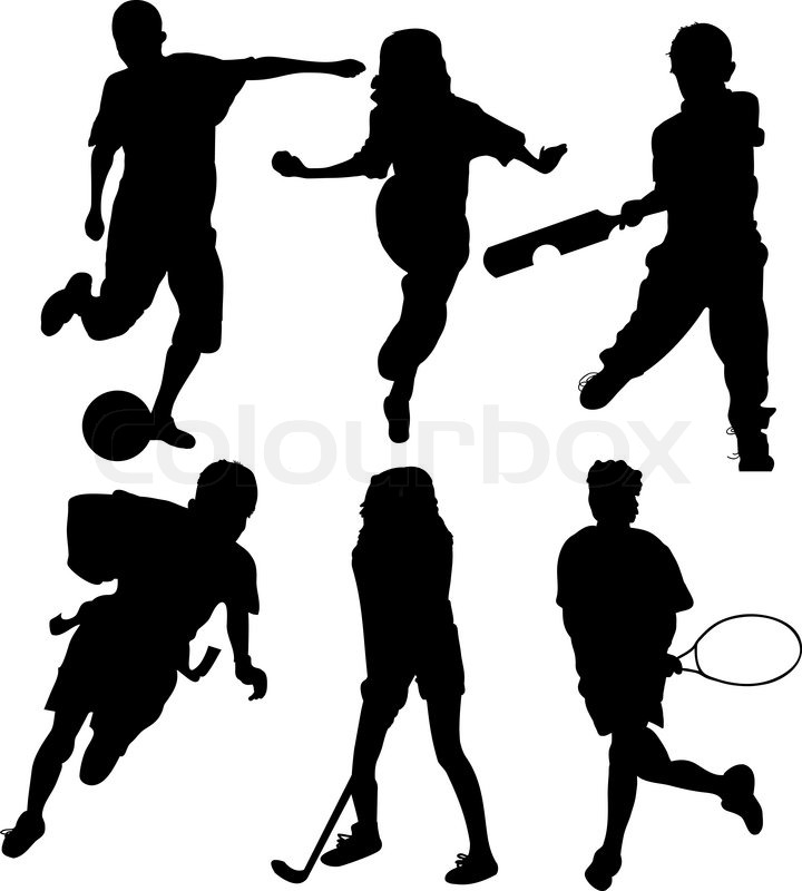 Children S Youth Sports: Soccer Players Silhouettes Of Kids - ...