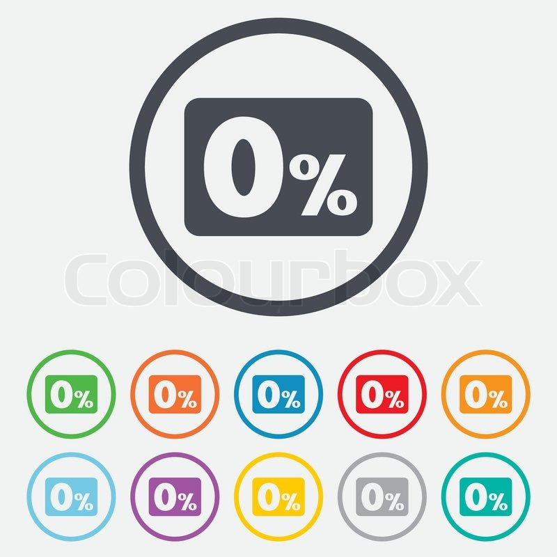 zero percent sign icon zero credit symbol best offer round circle buttons with frame vector. Black Bedroom Furniture Sets. Home Design Ideas