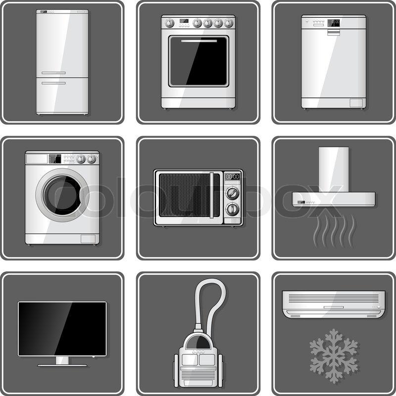Icons, bildzeichen, symbol  Vektorgrafik  Colourbox ~ Geschirrspülmaschine Zeichen