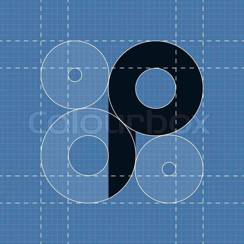 Round Engineering Font Symbol P Vector Illustration In Eps10