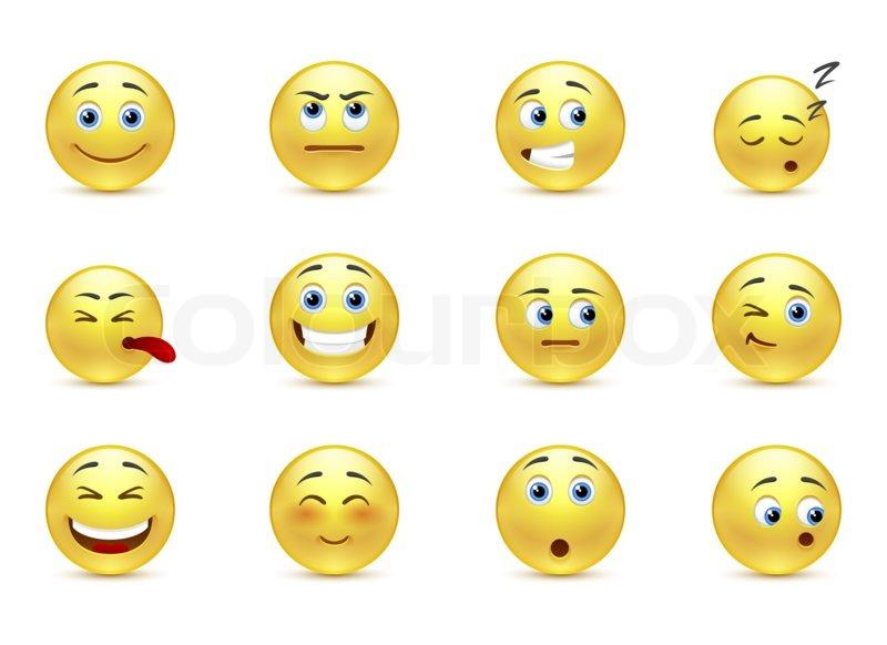 Emotion, emoticon, abbildung | Stockfoto | Colourbox