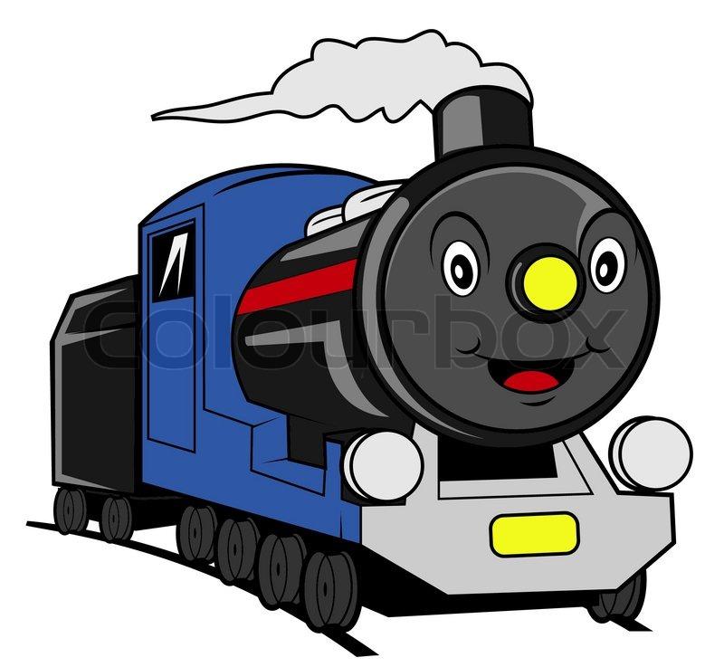 train cartoon stock vector colourbox