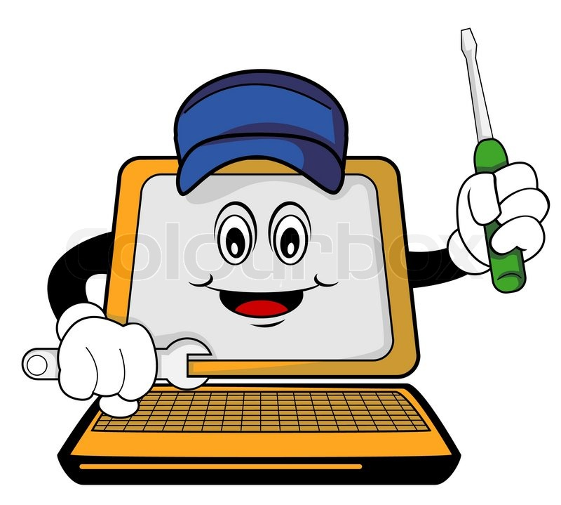 Box Wrench Clip Art Repaired computer cart...