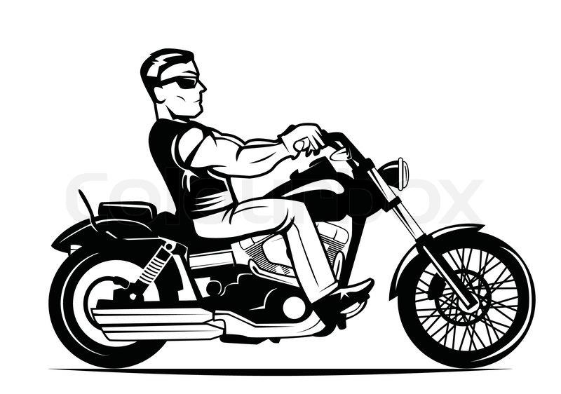 Bestechend power antriebskraft vektorgrafik colourbox - Dessin de motard ...