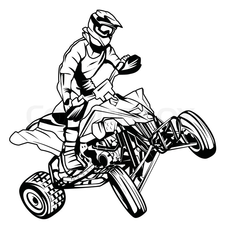 Atv Moto Rider Stock Vector Colourbox