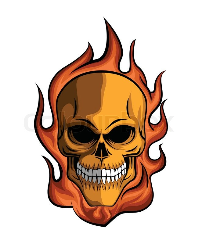 Skull Fire | Vector | Colourbox: https://www.colourbox.com/vector/skull-fire-vector-11325260