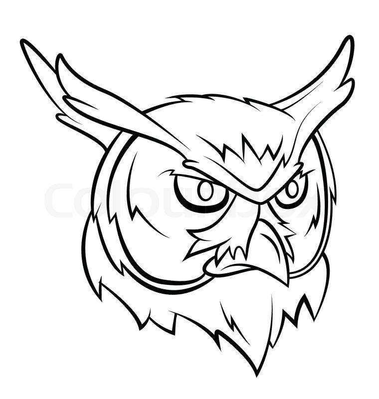 Owl Head Silhouette Vector Owl Head | Stock Vecto...