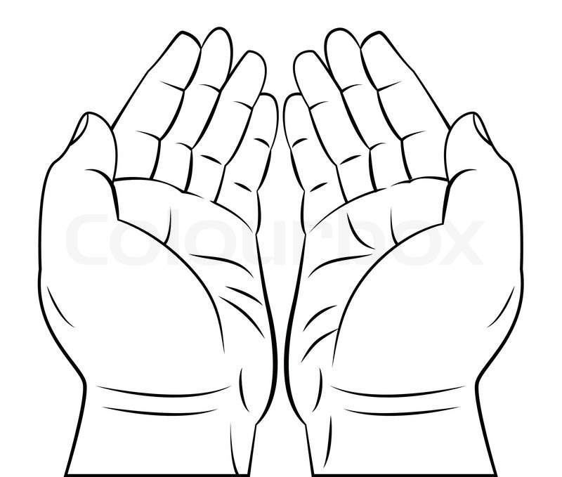 praying hand | stock vector | colourbox