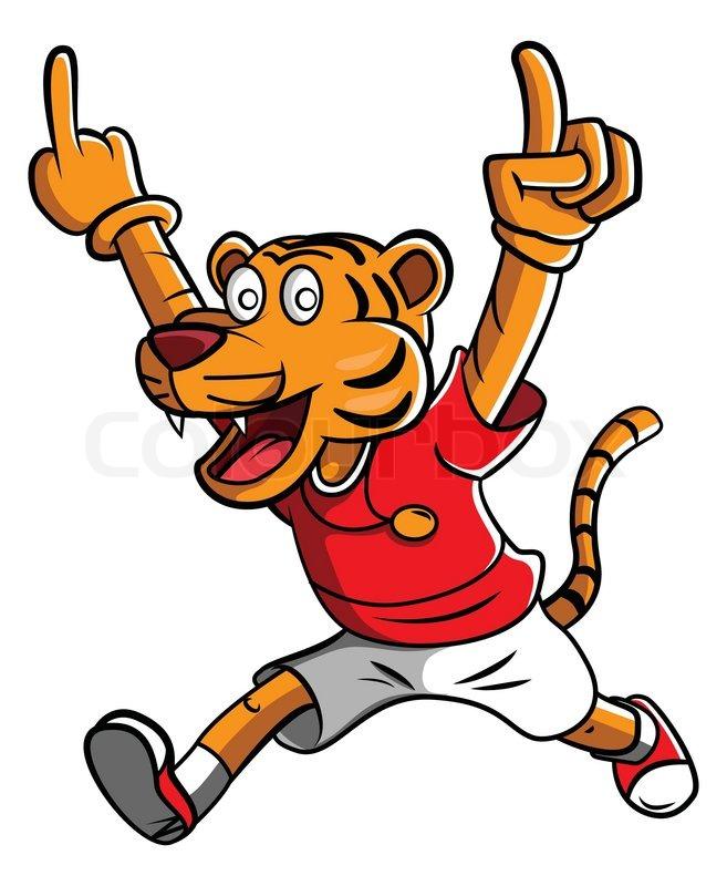 tiger mascot stock vector colourbox