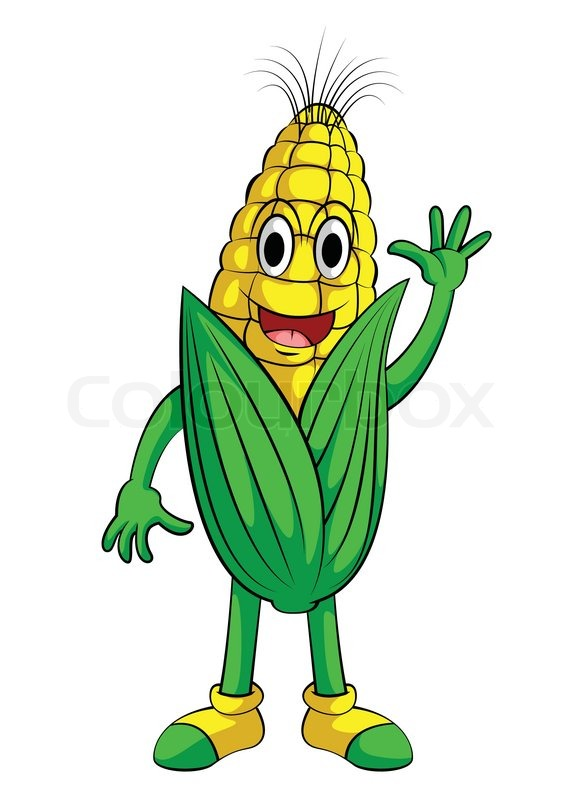 corn smile character stock vector colourbox Corn Plant Clip Art Ear of Corn Coloring Page