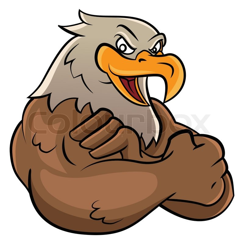 eagle mascot stock vector colourbox